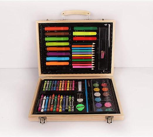 pomelogreem Lápices de Colores,72 Piezas de Caja de Madera Pintura ...