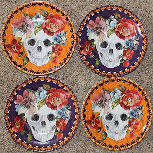 222 Fifth Halloween Marbella Colorful Skull 8-1/2