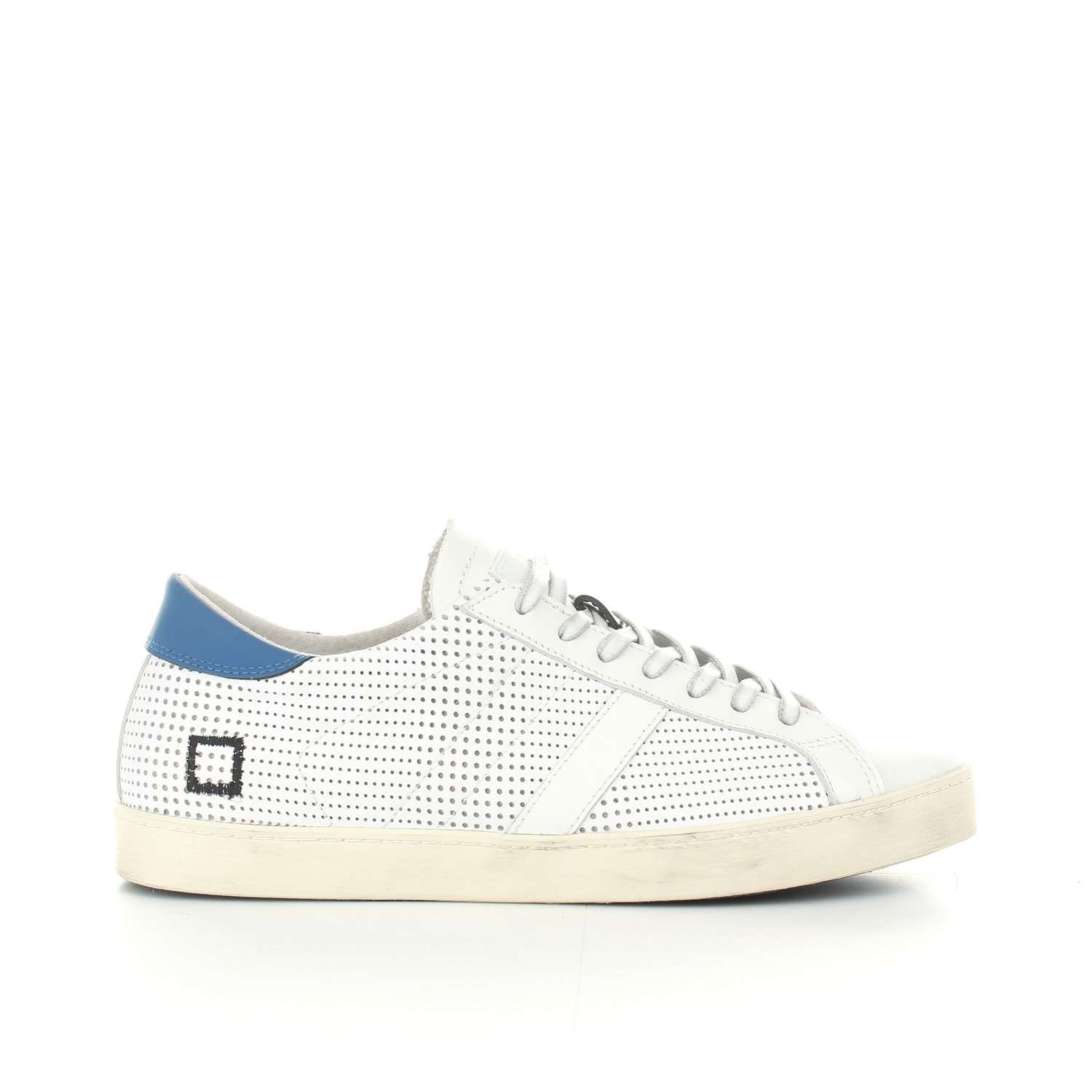 Sneaker D.A.T.E. Hill Low Pop en Piel Blanca Perforada 43 EU|Blanco