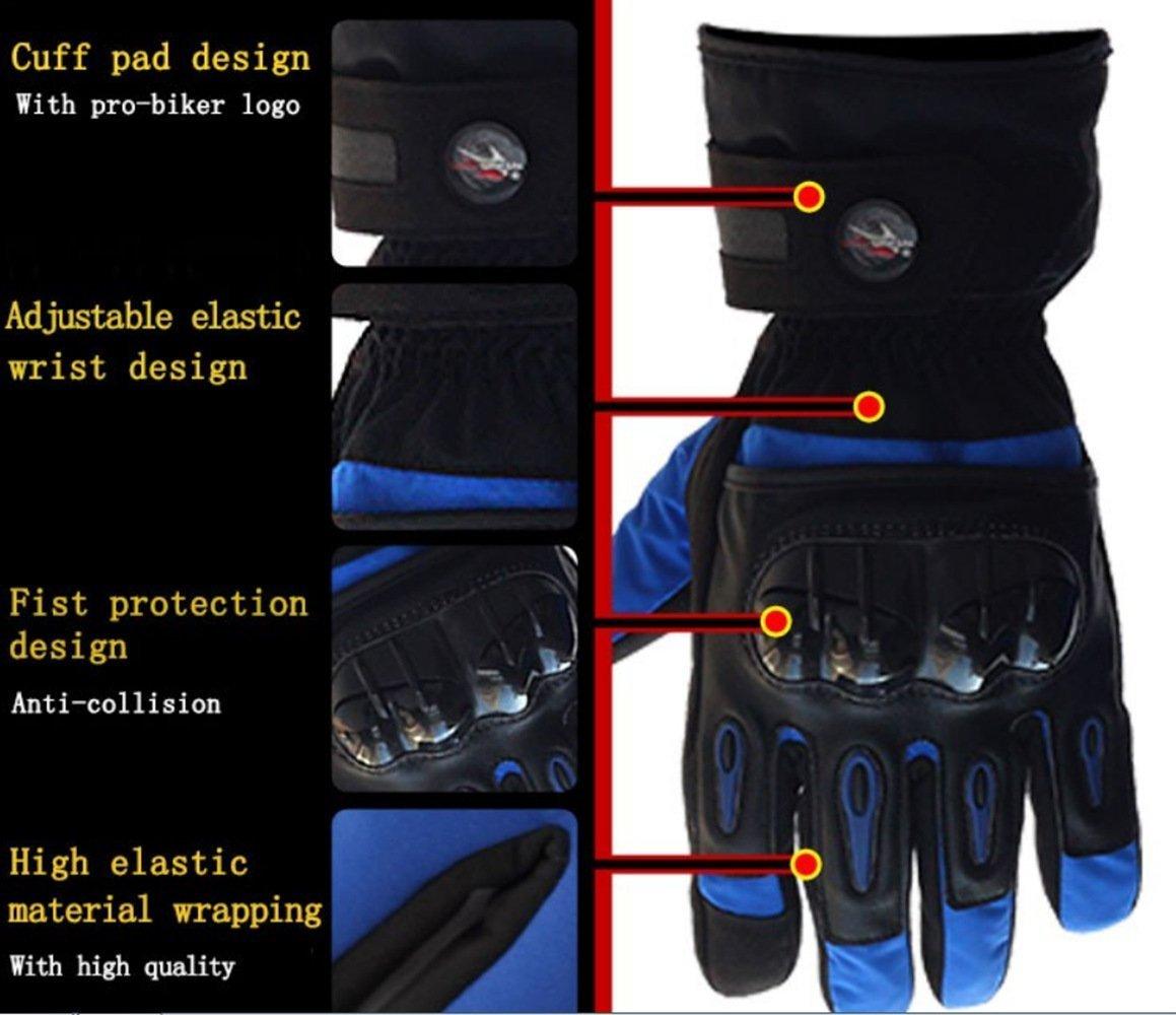 Bonnoeuvre Par Guante de moto Impermeable Guantes Dedo Completo PU Proteccion para Moto Bici Motocicleta Motorista puede pantalla t/áctil guantes de esqu/í XXL, Rojo