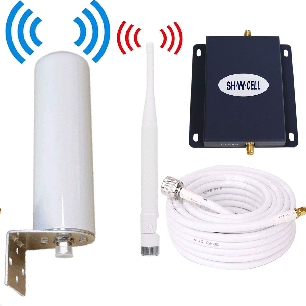 AT&T Cell Phone Signal Booster 4G LTE 700Mhz FDD Band12/17 T-Mobile Cell Signal Booster ATT Cell Phone Booster Amplifier Repeater Mobile Signal Booster SHWCELL with Whip/Omni Antennas Kit Home Use by SH·W·CELL
