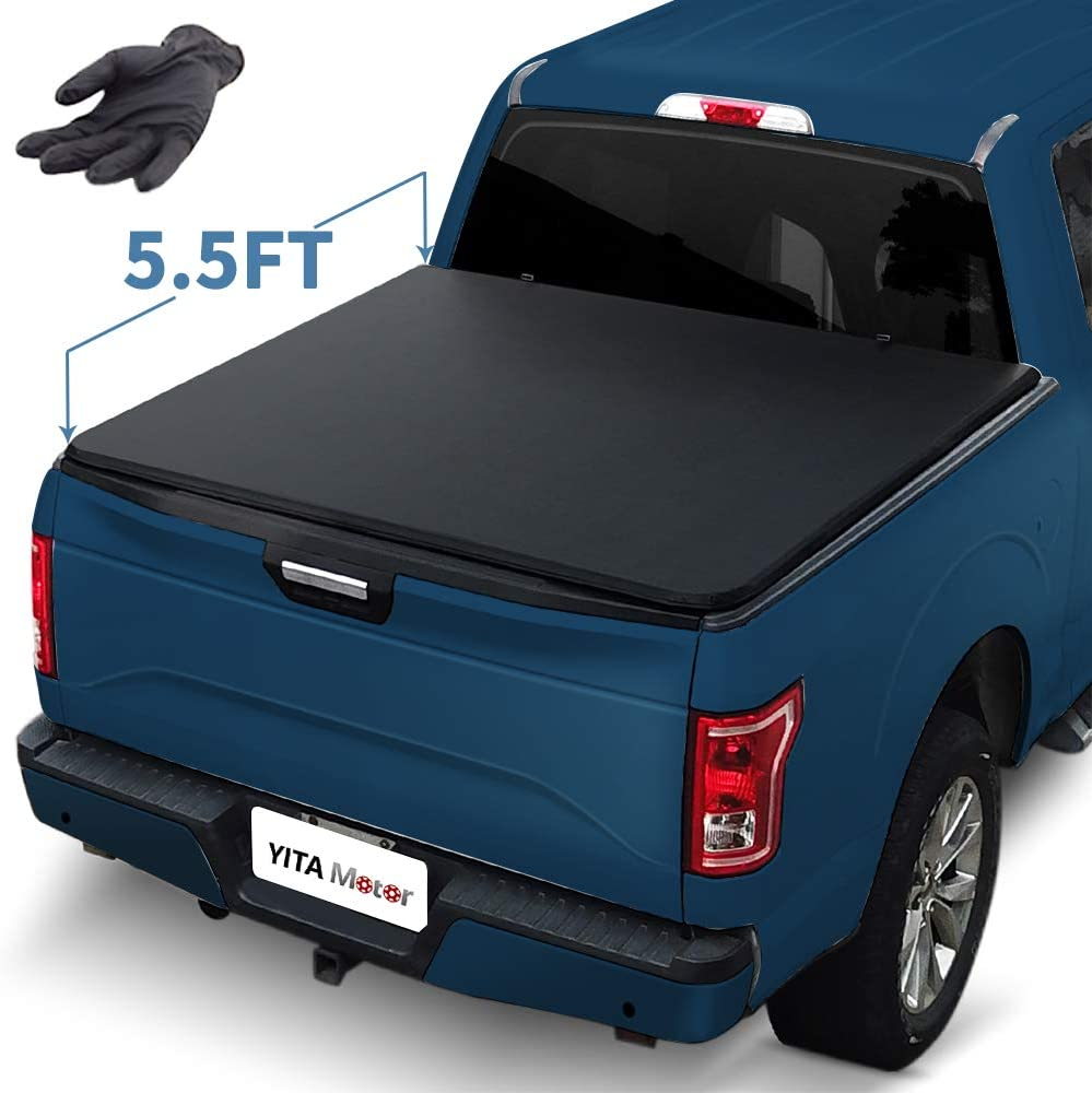 Yitamotor Soft Tri Fold Truck Bed Tonneau Cover Compatible With 2015 2020 Ford F 150 Styleside 5 5 Ft Waterproof Tear Resistant Pvc Pickup Automotive Cjp Org In