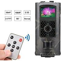 SUNTEKCAM Wildkamera 16MP 1080P mit Infrarot-Nachtsicht bis zu 65 Fuß/20 m IP65 Spray Wasserdicht für Outdoor-Natur, Garten, Haussicherheitsüberwachung HC-700A