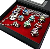 Touirch Anime Hitman Reborn Rings and Necklace Of Cosplay Set (B)