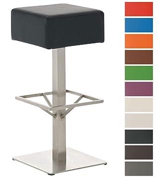 Sitzhöhe Barhocker clp design edelstahl barhocker glasgow mit kunstlederbezug