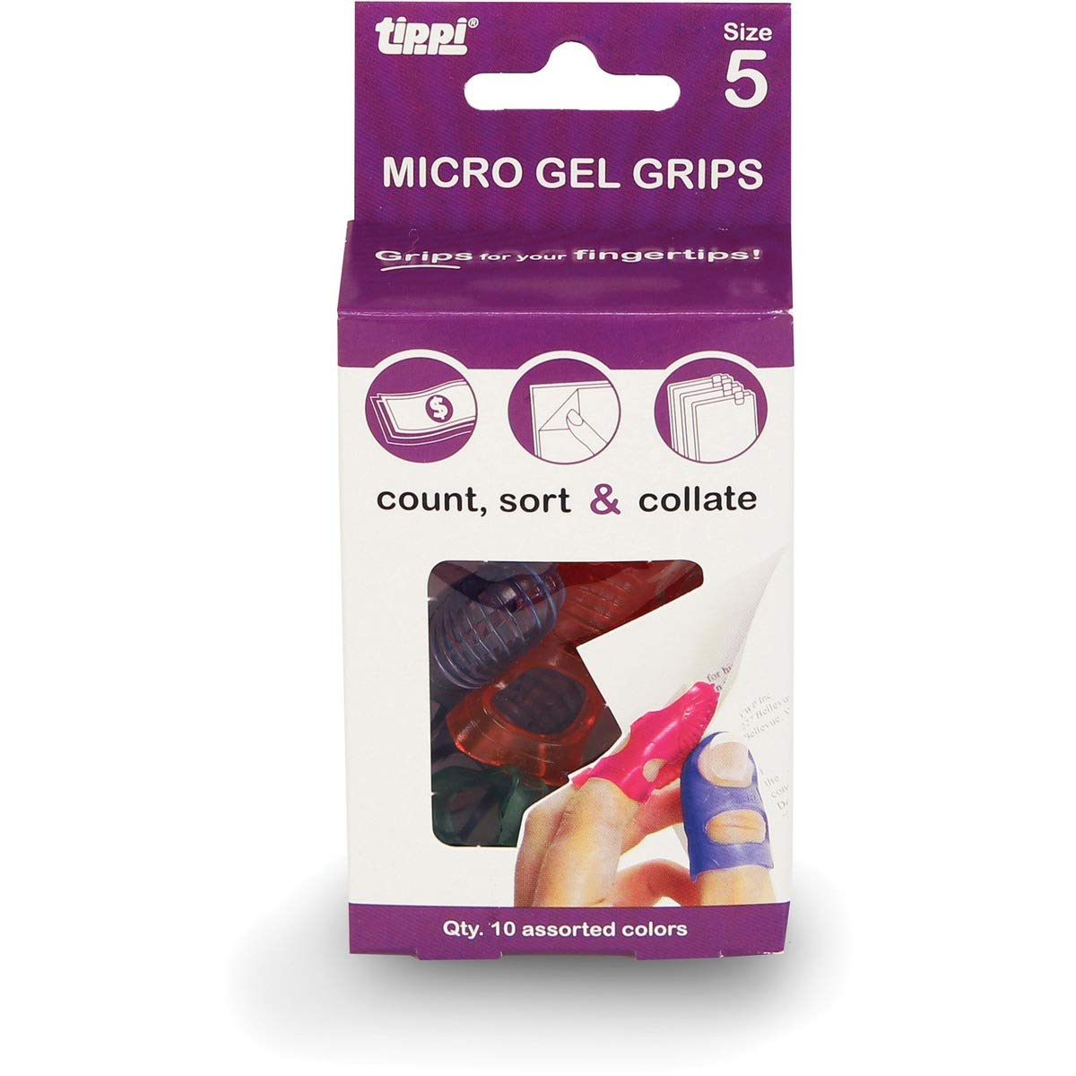 Lee Tippi Micro Gel Fingertip Grips - Size 5 Small - 10 Pack (S61050) (24) by Lee Products Co.