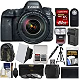 Canon EOS 6D Mark II Wi-Fi Digital SLR Camera & EF 24-105mm f/4L IS II USM Lens + 64GB Card + Backpack + Flash + Battery/Charger + Tripod + Filters Kit