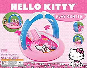 Intex Hello Kitty Play Center Inflatable Kiddie Spray Wading Pool Slide