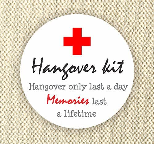 Amazon.com: Hangover Kit Stickers - Thank You Stickers
