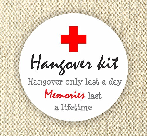 Hangover Kit Stickers - Thank You Stickers - Wedding Stickers - Bachelor Party Stickers - Bachelorette Party Stickers