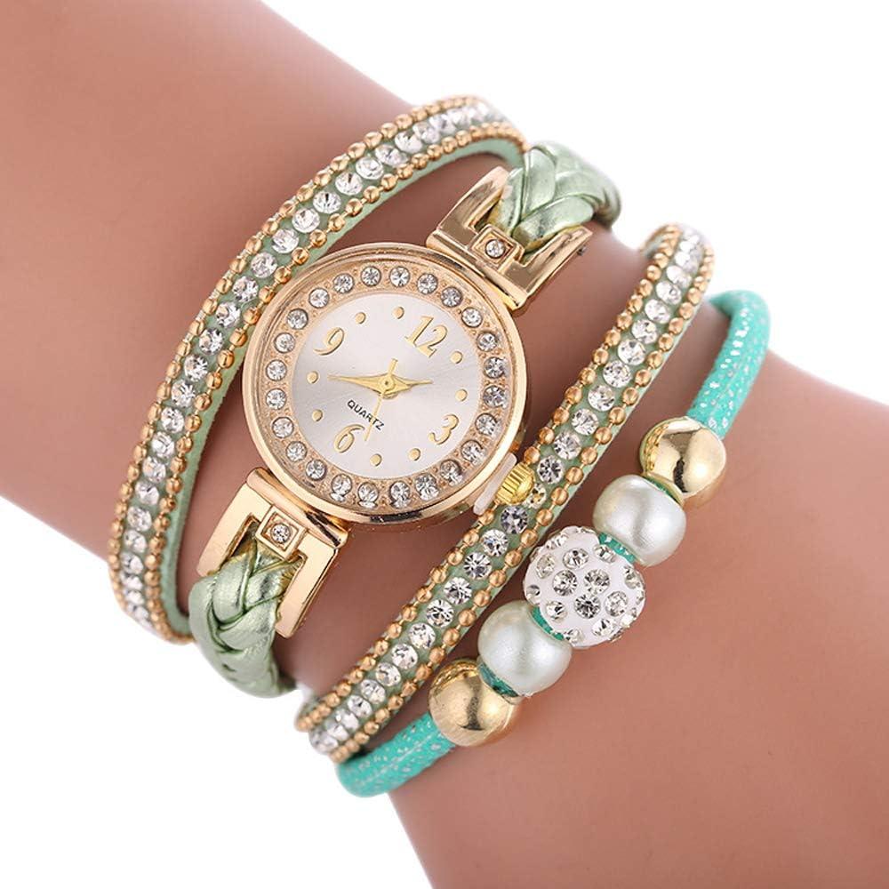 Cdybox Women Ladies Wholesale 6 Pack Diamond Watch Set Lot Leather Wrap Around Bracelet Analog Quartz Dress Wrist Watches