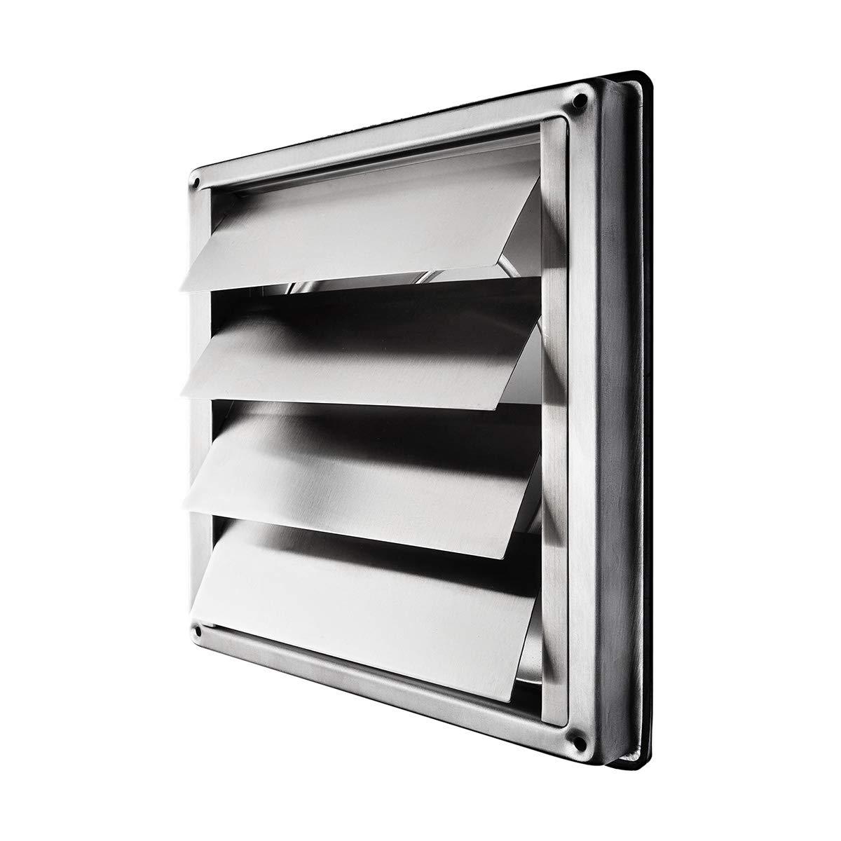 Klimapartner VKE 125 - Grille de Sortie Extérieure à Clapets Inox product image