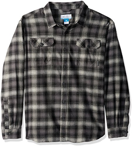 Columbia Men's Flare Gun Flannel III Long Sleeve Shirt, Flint Grey Ombre, Large Flint Grey Apparel