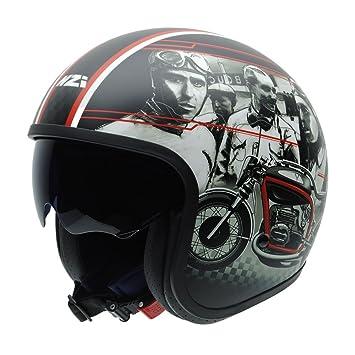 NZI 050319G846 Rolling Sun Gannet Design CUSTOMRACER Casco de Moto, Multicolor, Talla 54 (