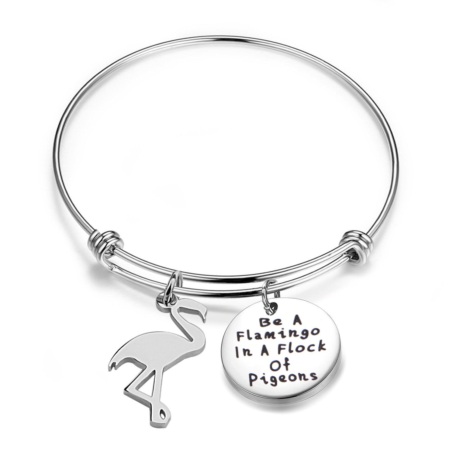 BNQL Be A Flamingo Bracelet Positivity Be Yourself BFF Gift