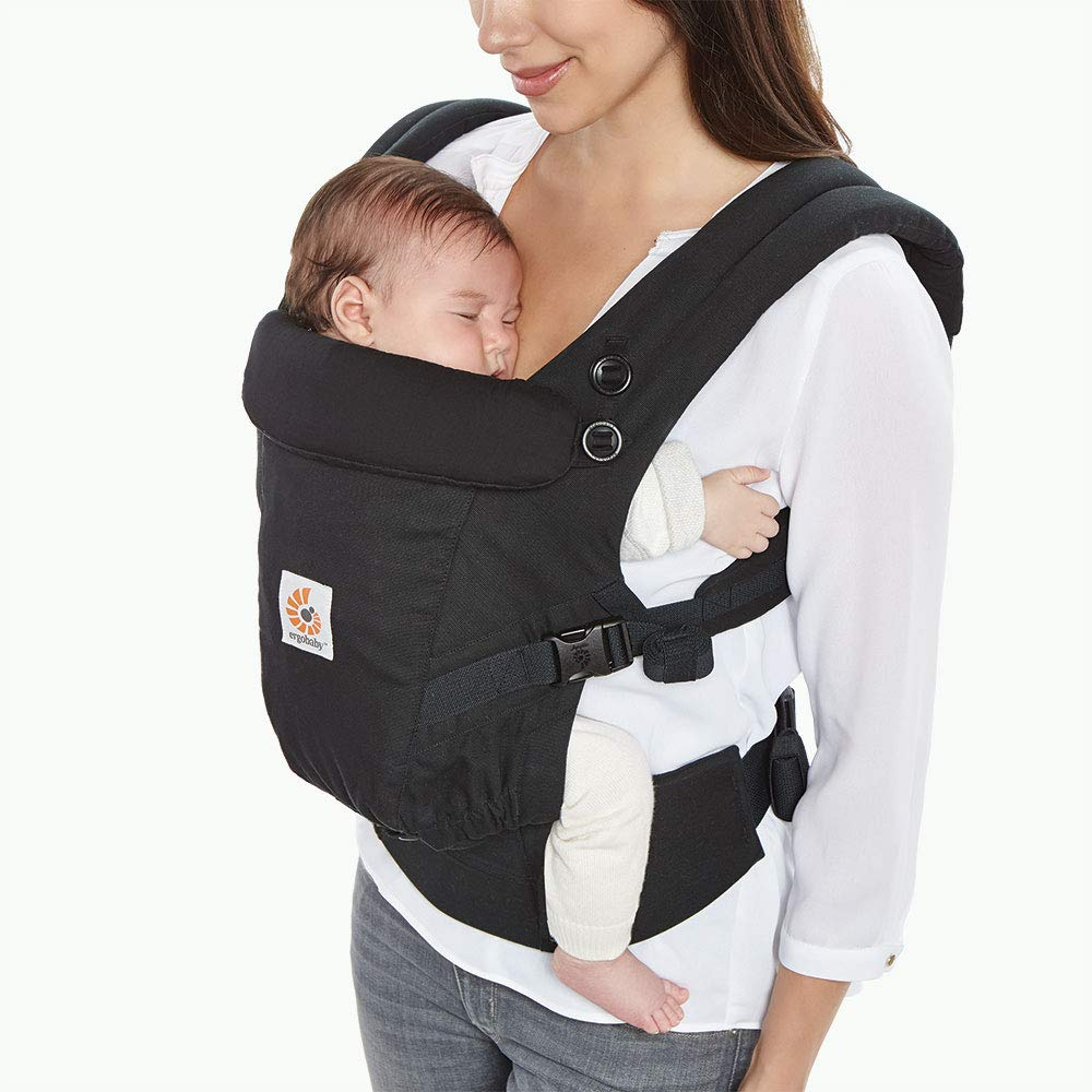 Ergobaby Adapt Baby Carrier, Infant To Toddler Carrier, Multi-Position, Premium Cotton, Black