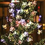 CRLight Solar String Lights, 8-Mode 52 LED Separable Waterproof Outdoor Flower 27ft Multi-color Decorative String Light for Home Garden Patio Yard Christmas Tree Wedding Party