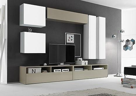 Zenzero Shop Parete attrezzata Moderna di Design, Bianco Lucido ...