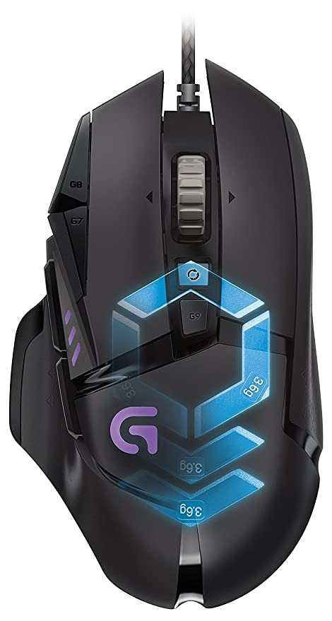 66ee435216a Amazon.com: Logitech G502 Proteus Spectrum RGB Tunable Gaming Mouse  910-004615(Renewed): Computers & Accessories