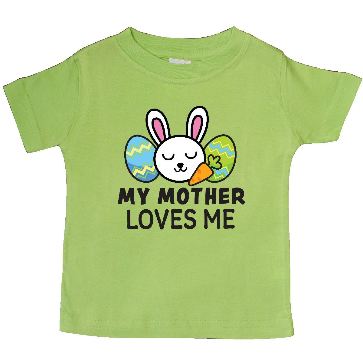 inktastic My Mother Loves Me with Bunny and Easter Eggs Baby T-Shirt