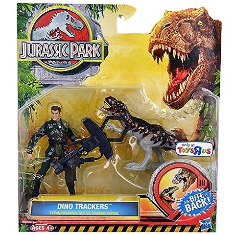 Jurassic Park Dino Trackers Tyrannosaurus Rex Vs. Ground Patrol Set - Jaw Snapping T-rex Dinosaur Toy