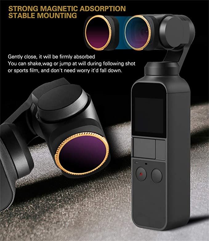 ND16 ND8//PL ND16//PL 4K Series CPL ND76//PL Camera Lens Filters Compatible with DJI Osmo Pocket ND8 8Pack ND4 Tronet All Day ND32//PL