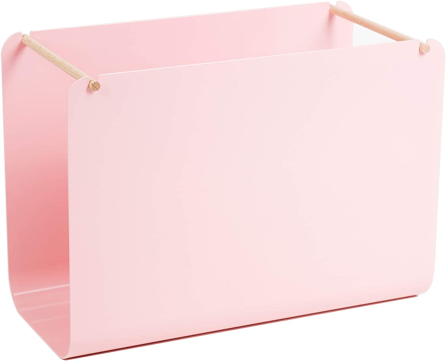 U Brands Metal Hanging File Organizer, Desktop Accessory, Arc Collection, Pink (3550A02-04)