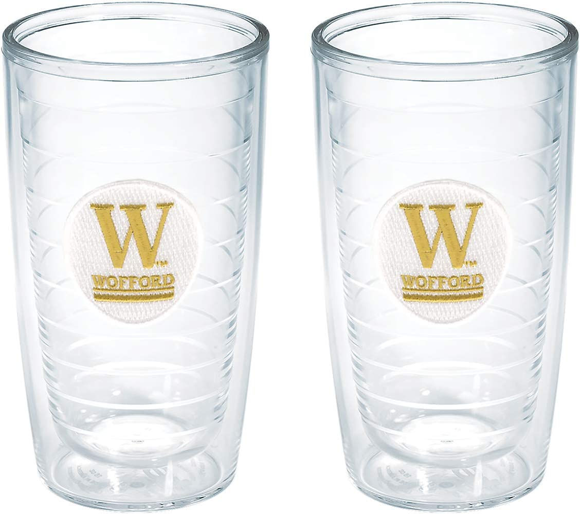 Set of 2 Tervis Wofford College Emblem Tumbler 24 oz Clear