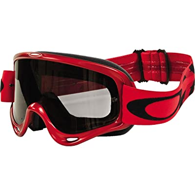 Oakley O Frame Intimidator Sand MX Adult Off-Road Motorcycle Goggles Eyewear - Metallic Red/Grey/One Size Fits All: Automotive