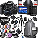 Canon EOS Rebel T6i DSLR Camera 18-55mm Lens Sigma 24mm Art Lens Accessory Bundle
