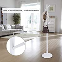 Cloth Rack Stand, Durable Cloth Hanger Tree, Steady for Home for Hanging Coat(White)
