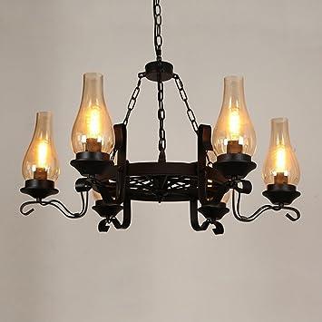 Lieblich MMM  Amerikanischen Landhausstil Kronleuchter, Eisen Lampe Körper Glas  Lampenschirm E27 Kronleuchter (60 *