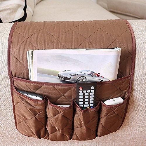 huateng Sof/á Sof/á Silla Apoyabrazos Organizador Sof/á Side Caddy para Handy Phone Books Revistas Holder TV Mandos a Distancia Bolsillos de Almacenamiento