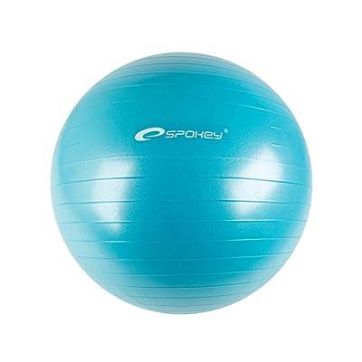 Spokey Ballon de gymnastique anti Burst Système, idéal pour entraînement à la maison et la rééducation, réduire la graisse corporelle anteils, avec pompe à ballon, Fitbal