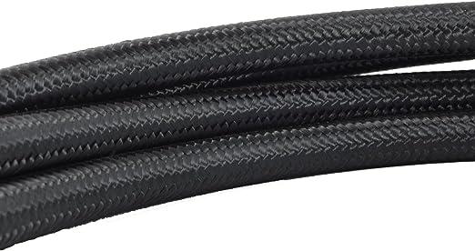 8 AN 8AN Black Nylon Steel Braided Hose for Fuel Oil Coolant Air 10 Feet