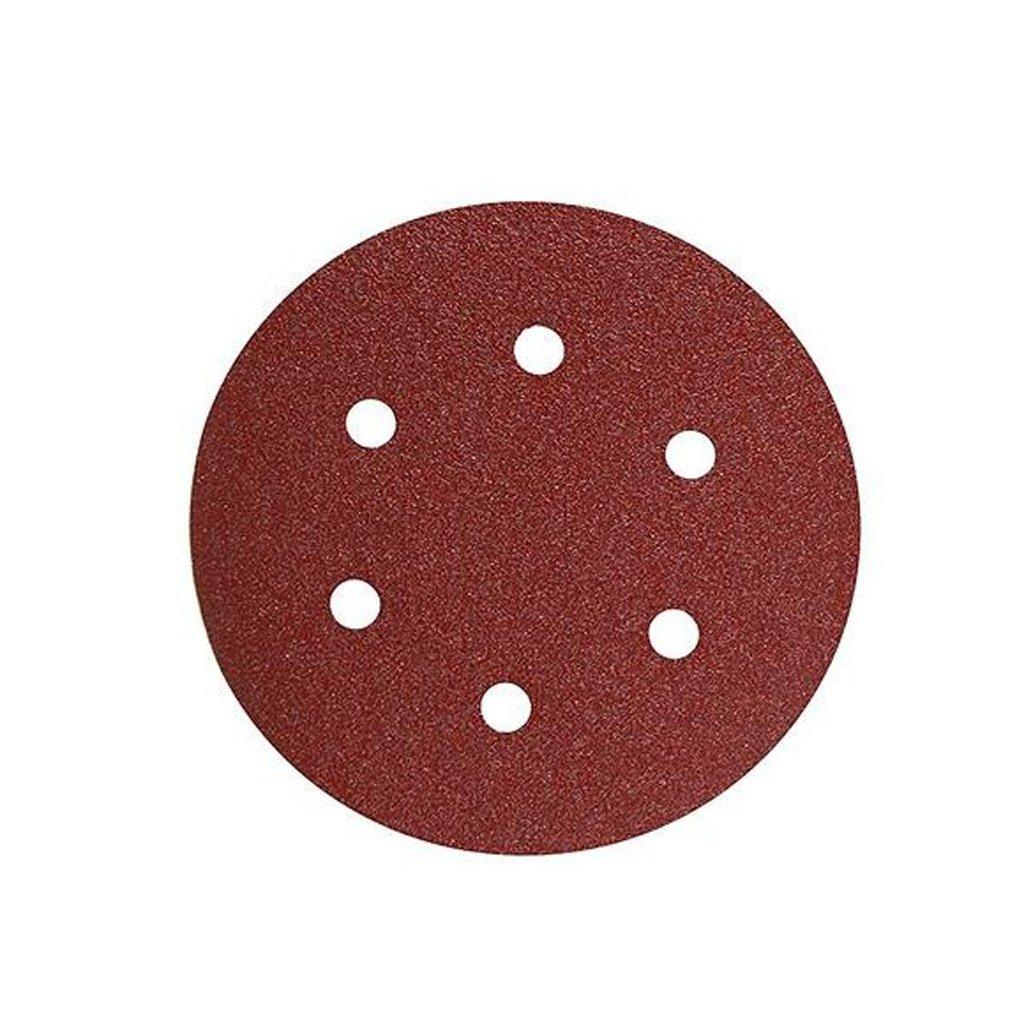 800 Grit Dark Red MagiDeal 50 Piece 8-Hole Sanding Sheets Discs Round Sander Paper Pads 125mm