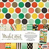 My Minds Eye Market Street Paper and Accessories Kit, 12 by 12-Inch, Nob Hill