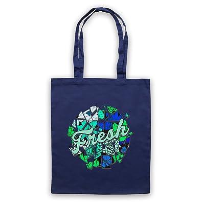 My Icon Art & Clothing Fresh Slogan bolsa Tote, azul marino ...