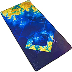 "Interstellar Space Deskpad - Golden Seas Custom Design Extra Large Microfiber Mousepad for Laptops, Computer Monitors, Tablets, Keyboards 35"" x 15.5"" by Stratagem"