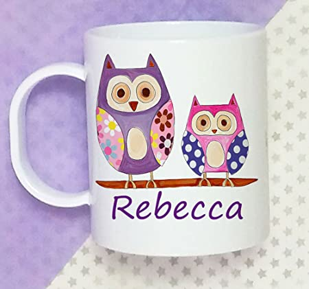 Toddler Cup Baby Gifts Personalised Baptism 1st Birthday Gift 2nd GIrls Boys Hoot Plastic