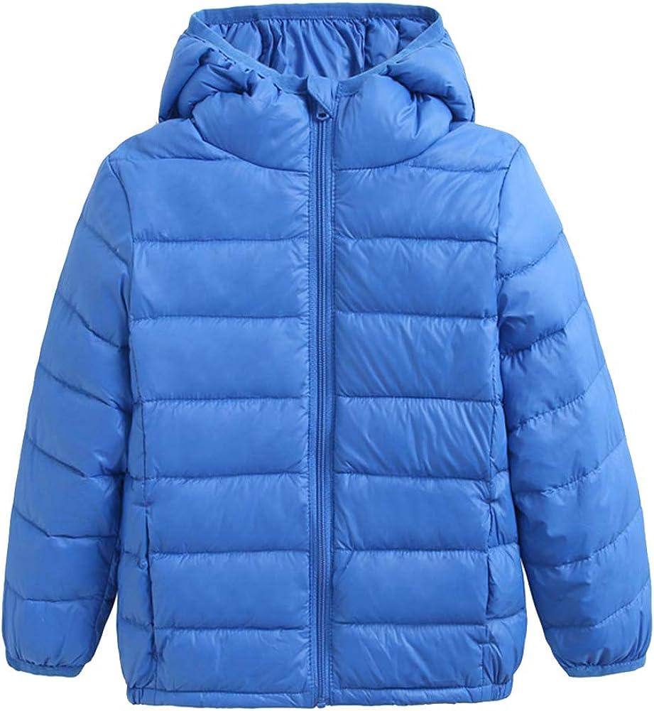 Junge M/ädchen Daunenjacken Ultraleichte Packbare Daunenmantel Warm Winterjacke Steppjacke mit Kapuze