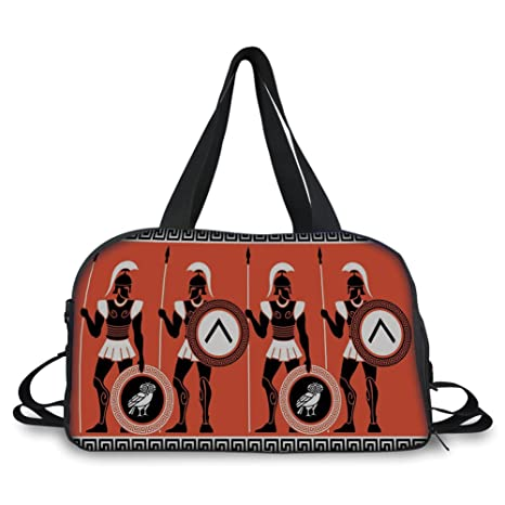 bf8ee5bc10 Amazon.com: Travel Handbag,Toga Party,Artistic Historical Warrior ...