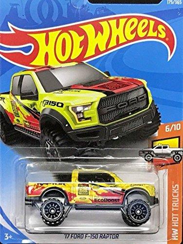 - Hot Wheels 2018 50th Anniversary HW Hot Trucks '17 Ford F-150 Raptor 175/365, Yellow