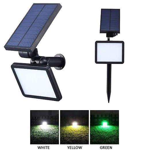 GUDEMN Luz de jardín Iluminación de jardín 48 LED Proyector ...