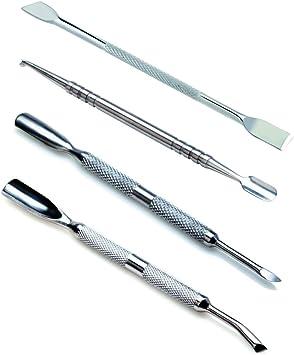 VAGA 4 Herramientas de metal para hacer manicura y pedicura, Kit ...