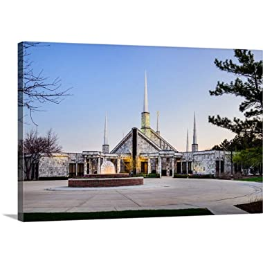 Gallery-Wrapped Canvas Entitled Chicago Illinois Temple Entrance, Glenview, Illinois by Scott Jarvie 30 x20