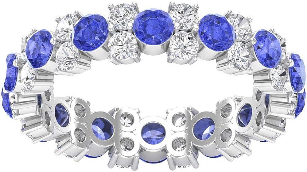 Anillo de boda de oro envejecido de tanzanita de 1,54 quilates, anillo de diamantes certificado SGL de 1,29 quilates, 10K Oro