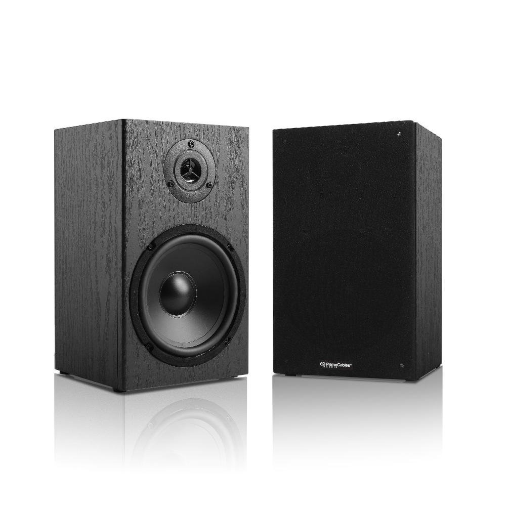 6.5' 2-Way Bookshelf Speakers Pair, 40 Watts RMS - PrimeCables®