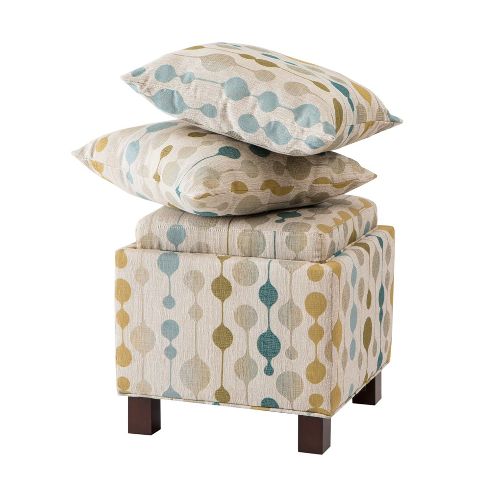 Madison Park FPF18-0202 Shelley Square Storage Ottoman with Pillows