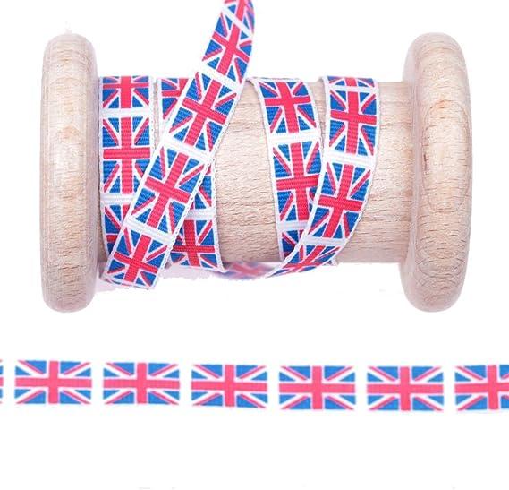 Cinta bandera Inglaterra al metro – 10 mm: Amazon.es: Hogar